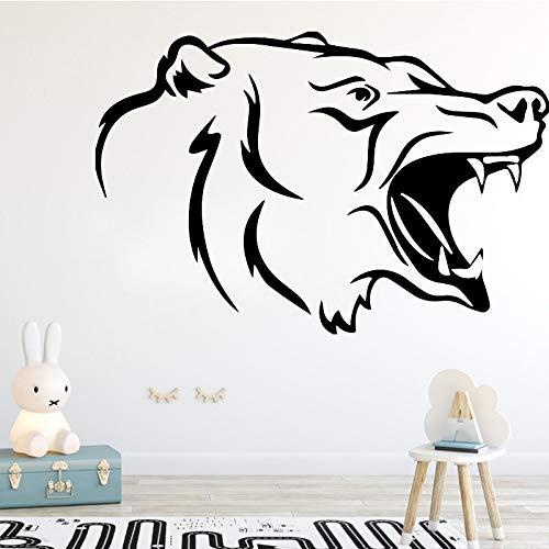 Tianpengyuanshuai Kreative Wolf Muster Aggressive Tier Wandaufkleber Jungenzimmer Schlafzimmer Dekor Wandtattoo Vinyl 91,8X79,2 cm