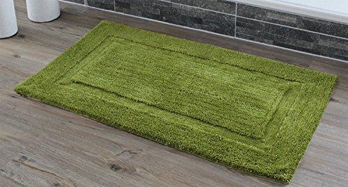 Gözze exclusieve hoogpolige badmat lijst 60 x 100 cm, limoen