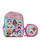 L.O.L GOO GOO 16' Large Backpack With Ball Lunch Bag - Detachable Lunch bag