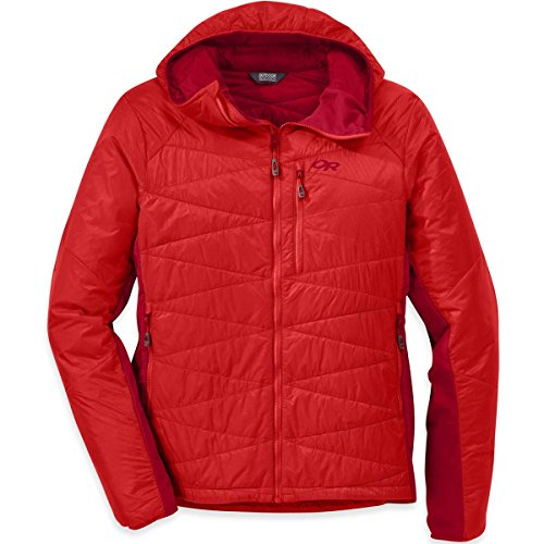 Outdoor Research Men's Cathode Hooded Jacket, hot sauce/agate, Small