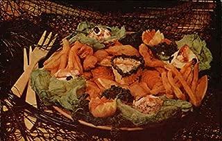 Ideal Fish Restaurant - Sea Food Platter Santa Cruz, California Original Vintage Postcard
