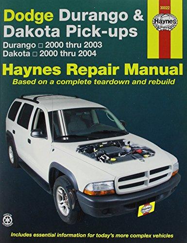 Dodge Durango and Dakota Pick-ups (2000-2003) Repair Manual