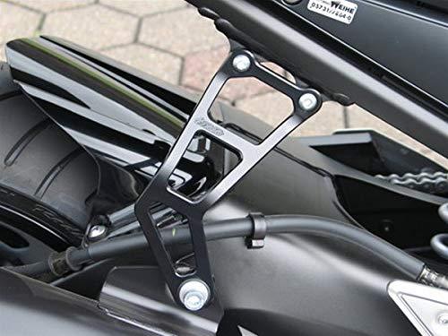 GSG Auspuffhalter Schwarz eloxiert Yamaha FZ1 RN16 2006-2015
