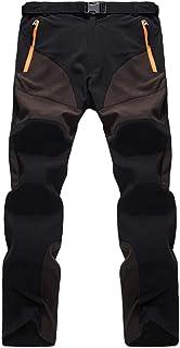 comprar comparacion Cayuan Pantalón de Senderismo Invierno Acolchado Pantalones de Escalada Calentar Impermeable Ropa Deportiva