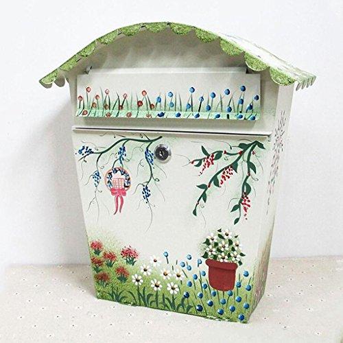 TLMY Pastorale Stijl IJzeren Riem Lock Suggestion Box Psychologische mailbox Outdoor mailbox Creatieve muur Letter Brievenbus Verzenddoos mailbox