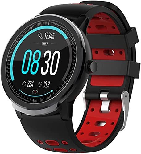 Full Circle pantalla táctil reloj inteligente bluetooth reloj inteligente hombres y mujeres pulsera fitness-B