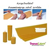 TrendLight 860490 Kerzen Bastelset Bienenwaben, Bienenwachswaben 500 g, 8 Platten, 20 x 35 cm Kerzen selbst herstellen, Kerzen Kreativ Set