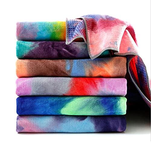 LIZHOUMIL Tie-dye tryck yoga filt fin fiber + harts partiklar yogamatta vadderad handduk med...
