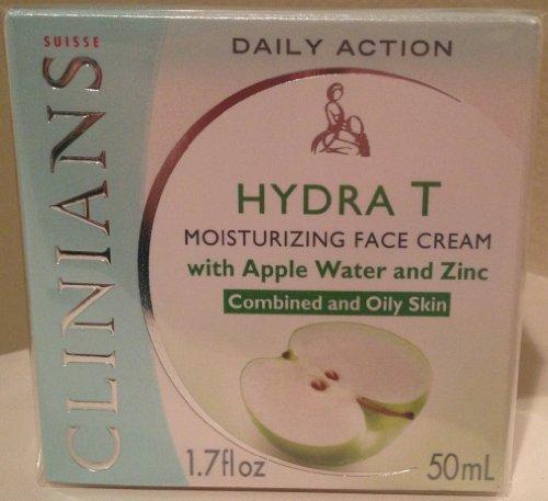 Clinians Hydra-T H. pomme d'eau huileuse et crème pour le visage 50ml Zinc