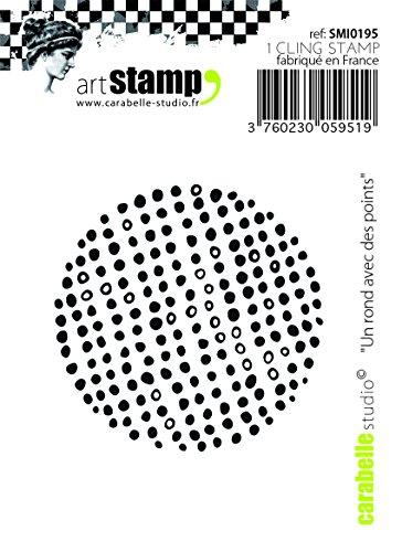 Carabelle Studio Cling Stamp Mini-Round med poäng, gummi, Vit/Transparent