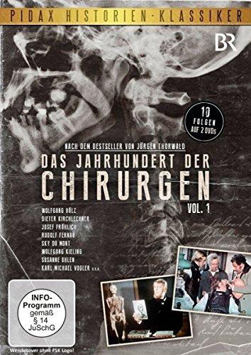 Das Jahrhundert der Chirurgen, Vol. 1 / 10 Folgen der Serie mit Starbesetzung nach dem Bestseller von Jürgen Thorwald (Pidax Historien-Klassiker) [2 DVDs]