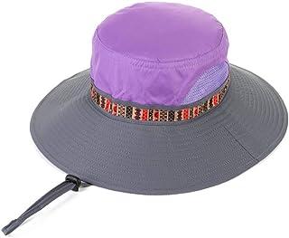 Siempre insiste en el éxito Sombrero de Verano, Sombrero para el Sol Unisex ala Ancha Viento Cuerda Protector Solar Pesca al Aire Libre, 4 Colores Opcional Sombrero para el Sol de Verano