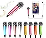 Mini Portable Vocal Microphone for Mobile Phone, Computer, Tablet, Recording Chat and Singing(Pink)