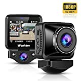 WonVon Dash Camera Front and Inside with 2.0' LCD Screen, Full HD Dual 1080x1080P Car Camera, Vehicle Video Recorder WDR, Sony Sensor, Wi-Fi, 145°Wide Angle,G-Sensor, Loop Recording