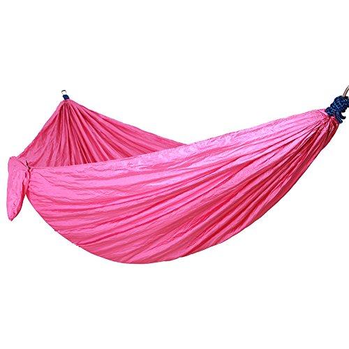 Meijunter Haute résistance Tissu de Parachute 2 Personnes Portable Parachute Hamac Dormir Balançoire Lit pour Jardin, Pique-Nique, Voyage en Plein air et randonnée pédestre