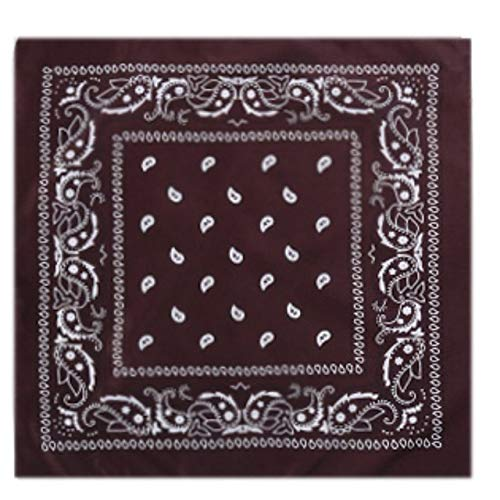 Yener Outdoor Cotton Cycling Sports Bandana Hoofdband Bedrukt Hip Hop Sjaal, Chocolade