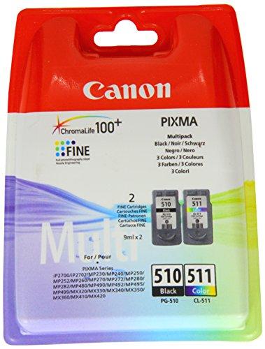 Canon Druckerpatrone, MP280 Ink 26|9~78|1 Pixma MP280, Schwarz 781, 2 Stück