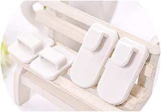 CAIYCAI 1Pairs Home Remote Controls Storage Hooks Plastic Sticky Hook Tv Air Conditioner Key Practical Wall Storage Holder,C