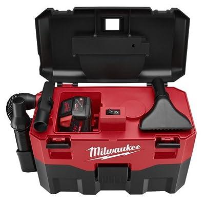 Milwaukee 0880-20 18V Cordless Lithium-Ion 2 Gallon Wet/Dry Vacuum (Bare Tool)