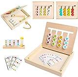 Sunshine smile Kinder Lernspielzeug mit Matching Spiel,Spielzeug Holz Puzzle Sortierbox,4 Farb Form Matching Spiel,Vorschule Sortieren Spielzeug Geschenke,Kinder Lernspielzeug