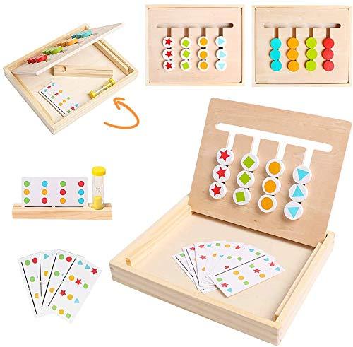Sunshine smile Kinder Lernspielzeug mit Matching Spiel,Spielzeug Holz Puzzle...