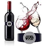 HELLOYOUNG Sensore di Temperatura del Vino in Acciaio Inossidabile Termometro a Bracciale ...