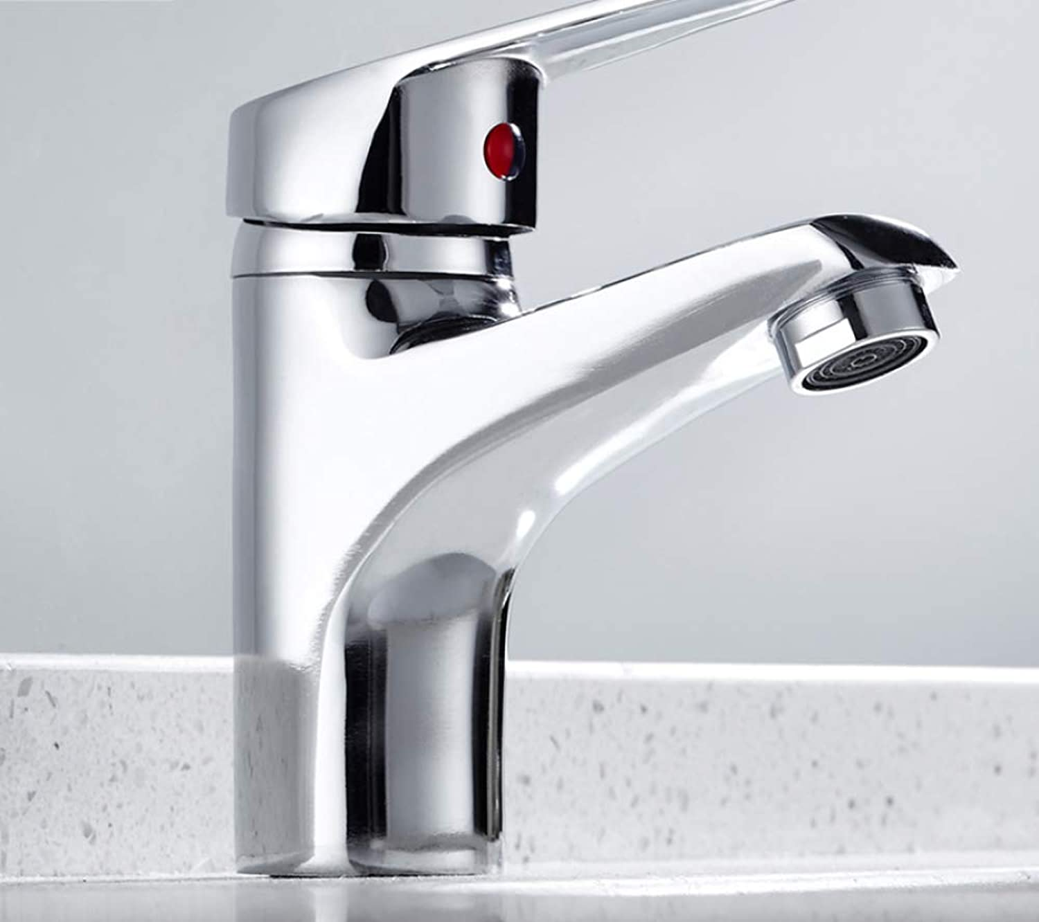 SLTYSCF Faucet Best Sale Bathroom Basin Sink Faucet Chrome Single Handle Kitchen Tap Faucet Mixer hot and Cold Water Hose Chrome Finished