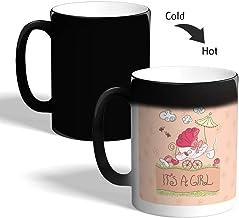 Its a girl Printed Magic Coffee Mug, Black