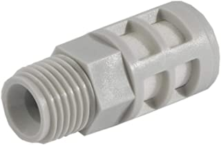 R1//4 Plastic Silencer White Compact