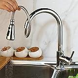 CZOOR Control táctil Touch Grifos de cocina de acero inoxidable Sensor inteligente Cocina Touch Faucet Cocina Desplegable Grifo del fregadero Faucet-Chrome_Touch_Tap