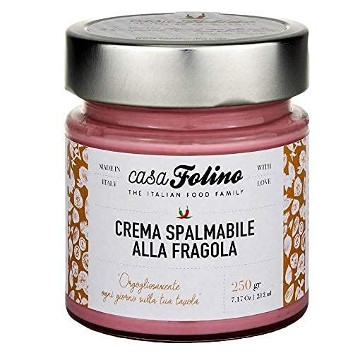 Crema Spalmabile Artigianale alla Fragola 250 g Senza conservanti aggiunti . Crema da spalmare o per farcire dolci. Made in Italy