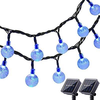 Lyhope Solar String Lights, 20 ft 30 LED Crystal Ball Waterproof Outdoor Solar Powered Globe Lights