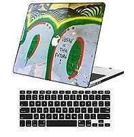 YixiuGG 切り抜きデザインプラスチック製ウルトラスリムライトハードケースキーボードカバー互換MacBook Pro 15インチ2016-2019リリース、タッチバー付き、モデルA1707 / A1990、油絵 0417