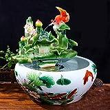 ZYING Cerámica Fish Tank Fuente de Agua de la decoración de la Sala Principal del Escritorio del hogar del Tanque ecológica Hierba