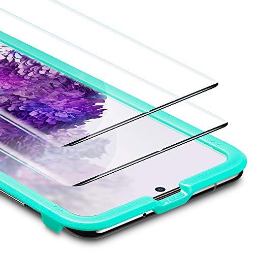 ESR Protector de Pantalla para Samsung S20 Plus/S20+/S20+ 5G, [Cobertura Pantalla Completa][2 Unidades] Cristal Templado,No Compatible con Lector de Huellas en Pantalla para Samsung Galaxy S20 Plus
