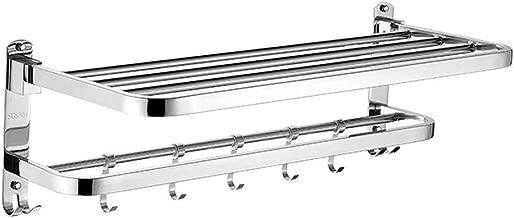 14x60x5.5 cm Wenko Bosio Toallero de Pared Acero Inoxidable Plata Mate