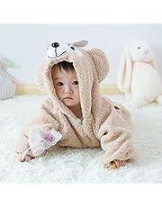 Ruibaolai ベビー&キッズ用 カバーオール 足つき ロンパース 着ぐるみ キッズコスチューム 子供 男の子 女の子 パジャマ 防寒着 スウェット ファション