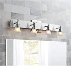 portfolio 4-light brushed nickel bathroom vanity light