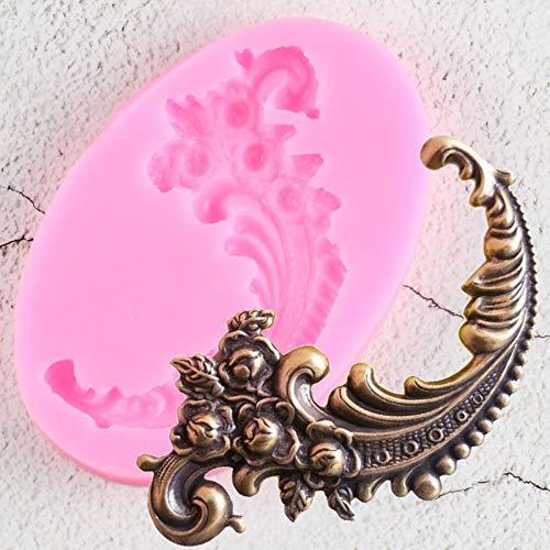VIOYO Rose Boeket Siliconen Mold DIY Bruiloft Fondant Cake Decoratie Gereedschap Relief Scroll Cupcake Bakken Snoep Chocolade Gumpaste Mould