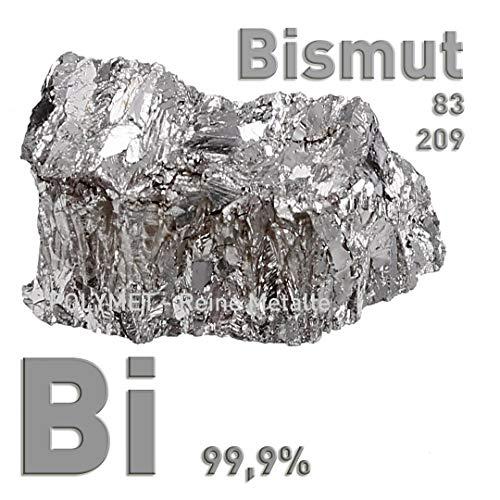 Bismut Wismut Metall 100 Gramm Barren ein Stück 99,9% Reinheitsgehalt Kristall crystal bismuth