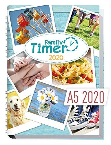 Family-Timer 2020 - Der Familien-Planer! 12 Monate Januar - Dezember 2020, Familienkalender für bis zu 4 Personen + viele hilfreiche Features