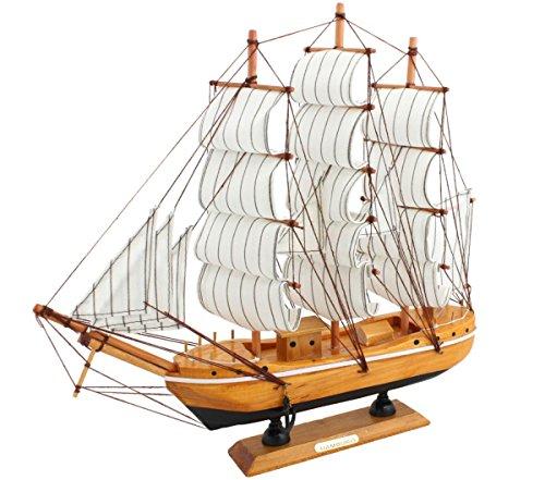 "Sonia Originelli Segelschiff""M"" Modellschiff Dekoration Schiff Maritim Farbe Holz"