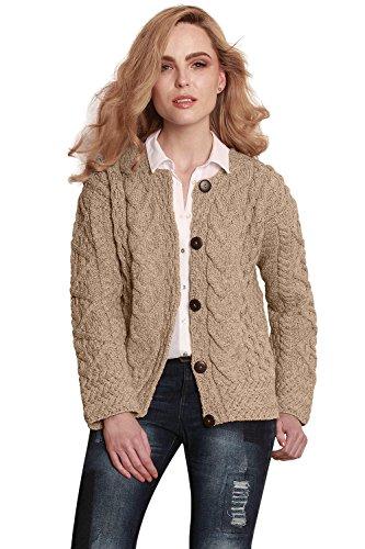 Carraig Donn Grote Ierse wollen jas voor dames