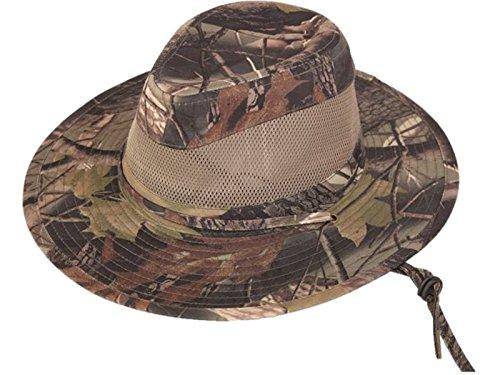 HDUK Summer Hats - Chapeau Camouflage Bois Adultes Style Fedora avec Panneau en Maille - Bois, Small - 58 cms