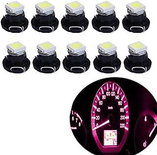 AZQKJ 10 x Pink T3 Neo Wedge Instrument Panel LED Light Gauge Cluster Bulbs Dashboard Indicator Lamp