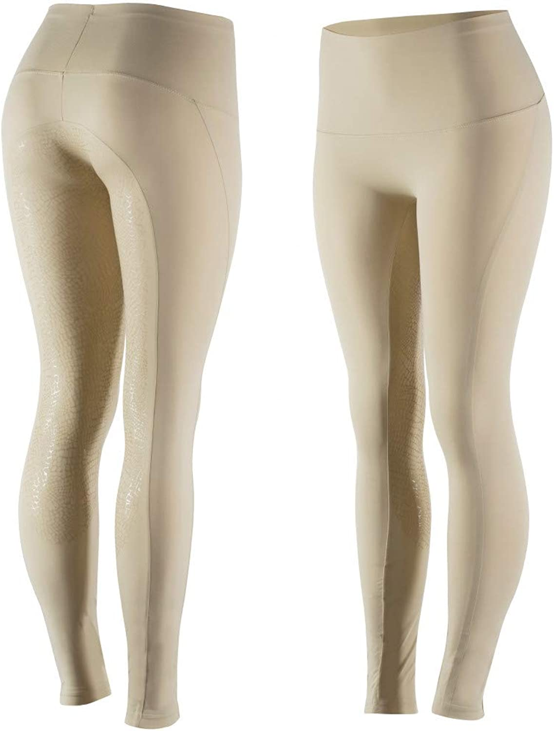 Horze white Women's Silicone FS Tights,
