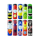 18650 Battery Sleeves Wraps confezione da 10 copribatteria in PVC termorestringenti da 29 mm, prodotto 100% autentico pre-sagomato per batterie 18650, 10PCS Heroes