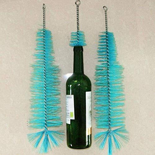 Schoonmaak spullen Wijnfles Reinigingsborstel Tube Brush het Huis brouwt Rode Wijn Bier Tube Brush for 350ml / 500ml / 750ml Vaas glazen fles, 440x300x80mm, blauw