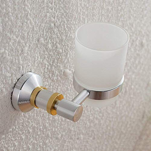YSJ Europese stijl badkamer tandenborstelhouder aluminium badkamer accessoires tekening handwerk badkamer gouden decoratieve muur tandenborstel cup
