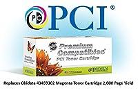 プレミアム互換機Inc。43459302-pci交換用インクとトナーカートリッジfor Okidataプリンタ、マゼンタ